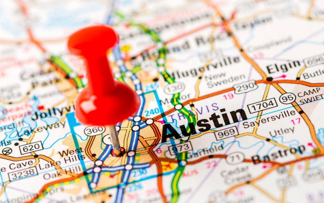 Locksmith Austin map