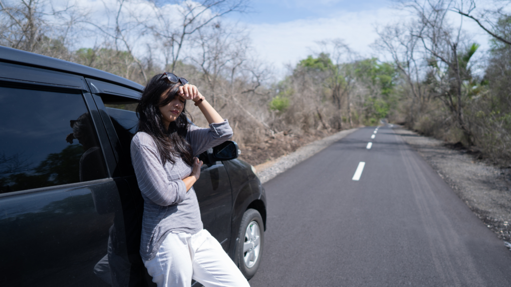 women stressed and need car lockout services